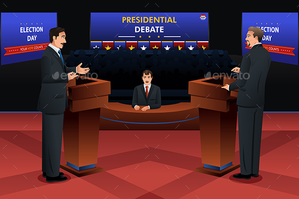 Presidential Debate - People Characters