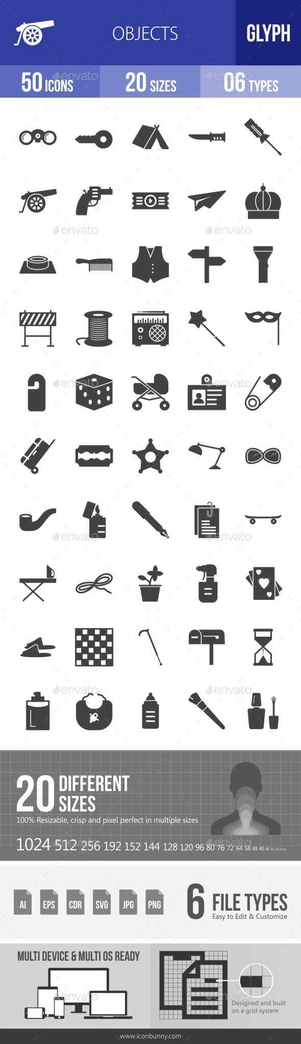 Objects Glyph Icons - Icons
