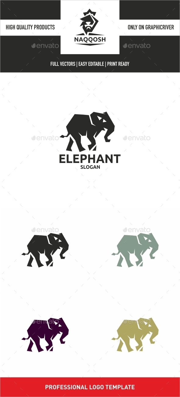 Elephant - Animals Logo Templates