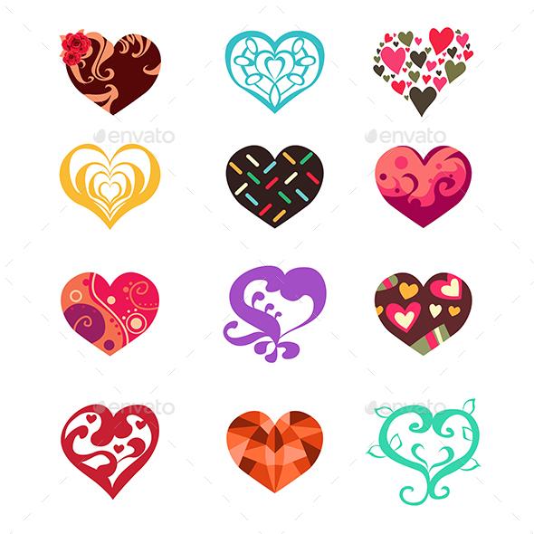 Heart Icons - Decorative Vectors