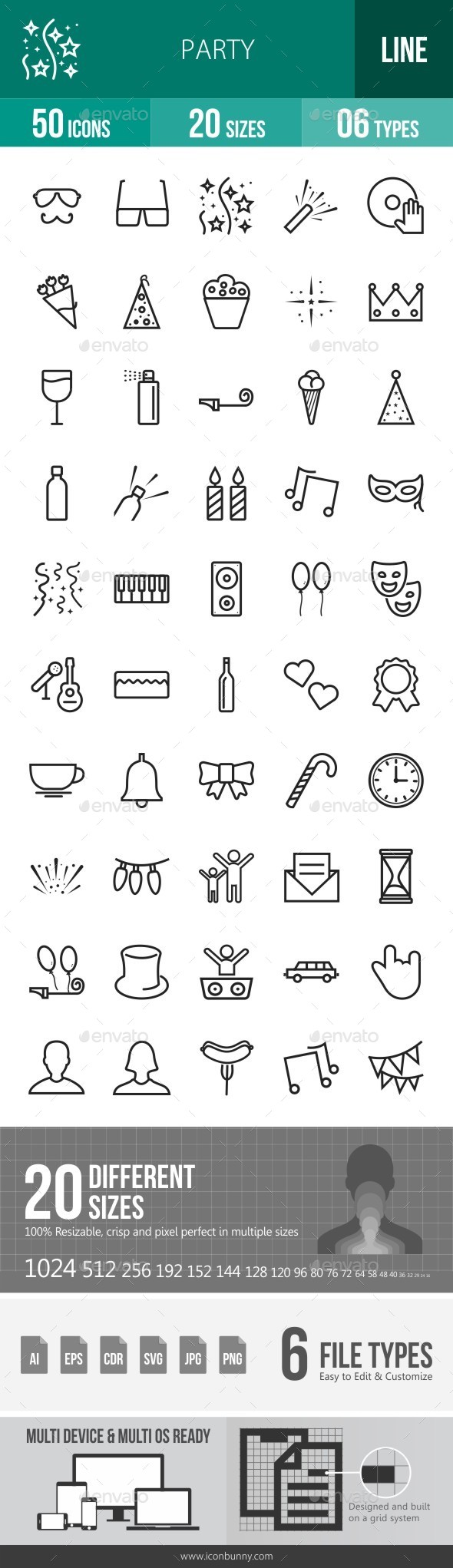 Party Line Icons - Icons