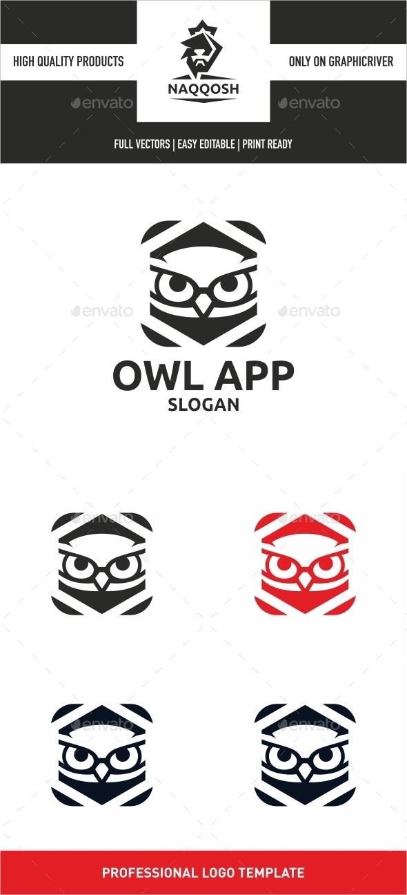 Owl App - Symbols Logo Templates