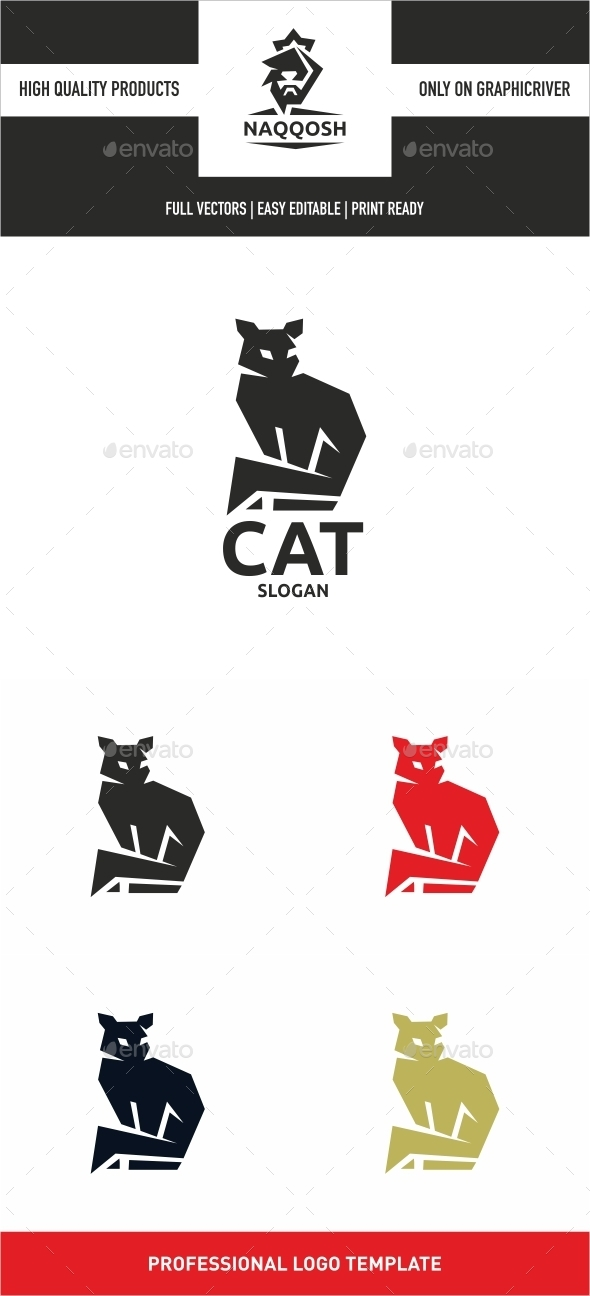 Cat - Animals Logo Templates