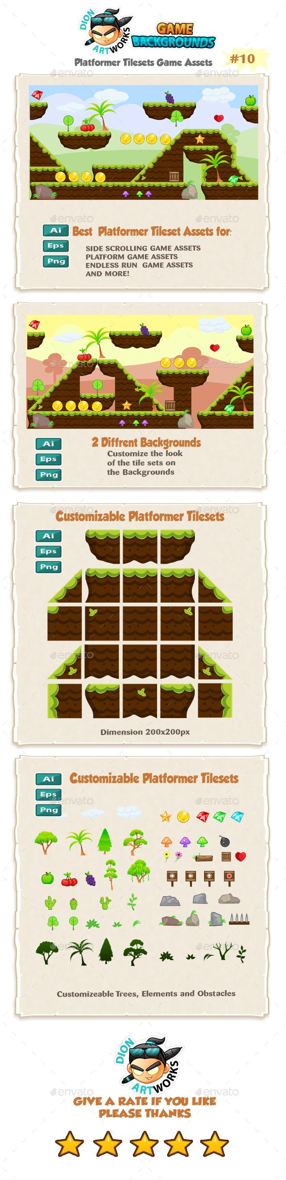Platformer Game Tilesets 10 - Tilesets Game Assets