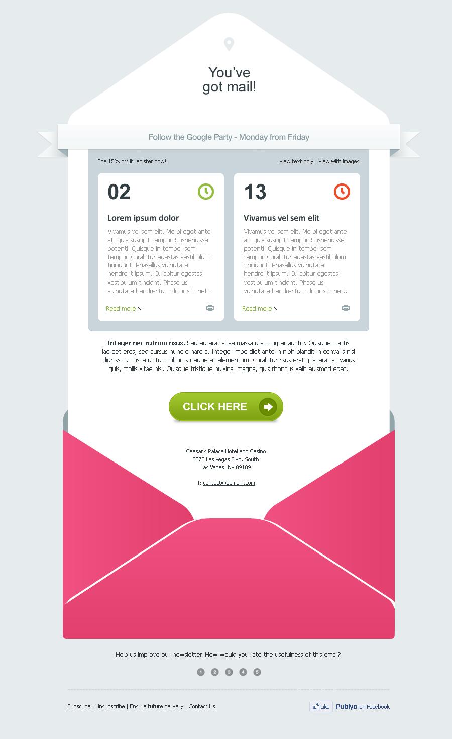 Publyo Email Template By Advolocaru Themeforest