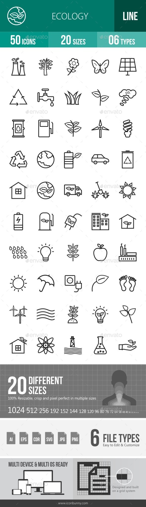 Ecology Line Icons - Icons
