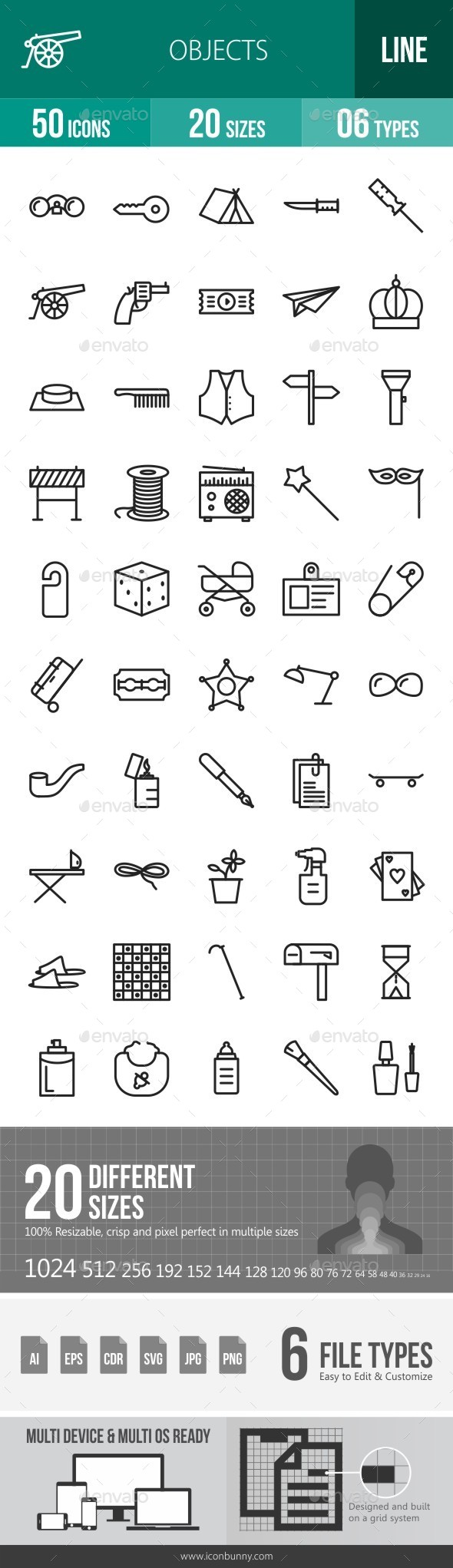 Objects Line Icons - Icons