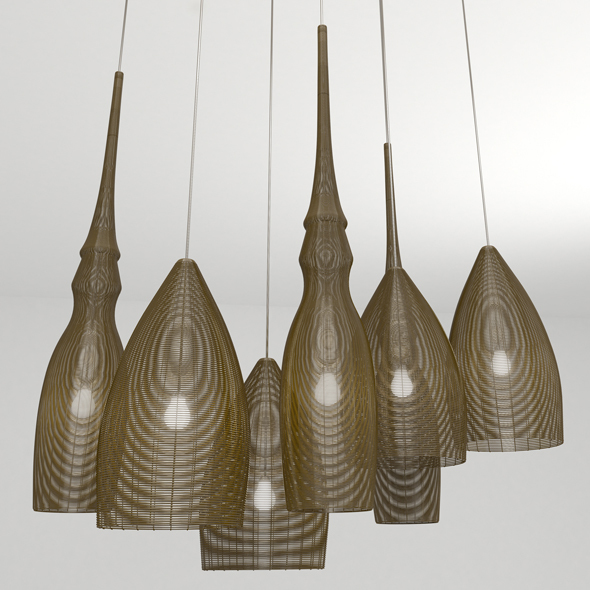 Wire Pendant Light - 3DOcean Item for Sale