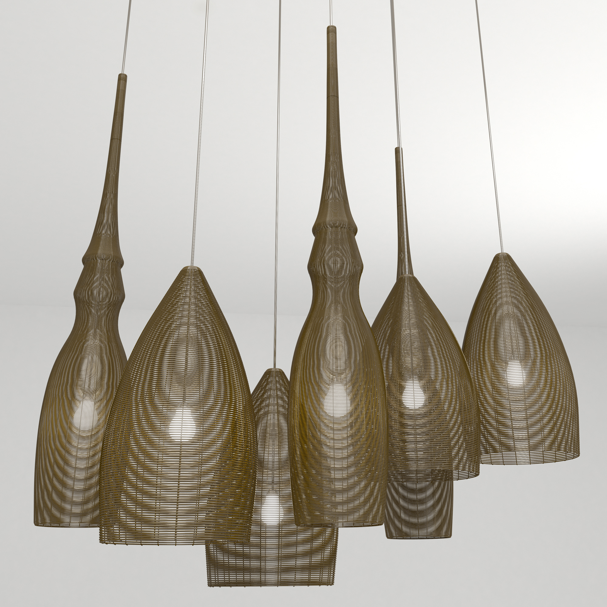 Wire Pendant Light Wire Pendant Light By Nadesmond 3docean