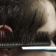 Barber Cutting Hear Of Client With Scissors And - VideoHive Item for Sale