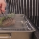 Chef Putting Pieces Of Steaks On Grill  - VideoHive Item for Sale