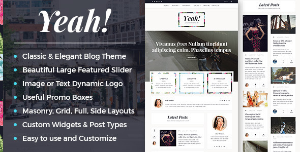 Yeah! - A Responsive Elegant WordPress Blog Theme
