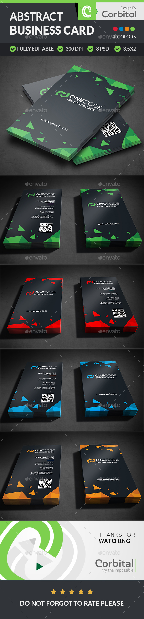 Modern Abstract Business Card - Creative Business Cards
