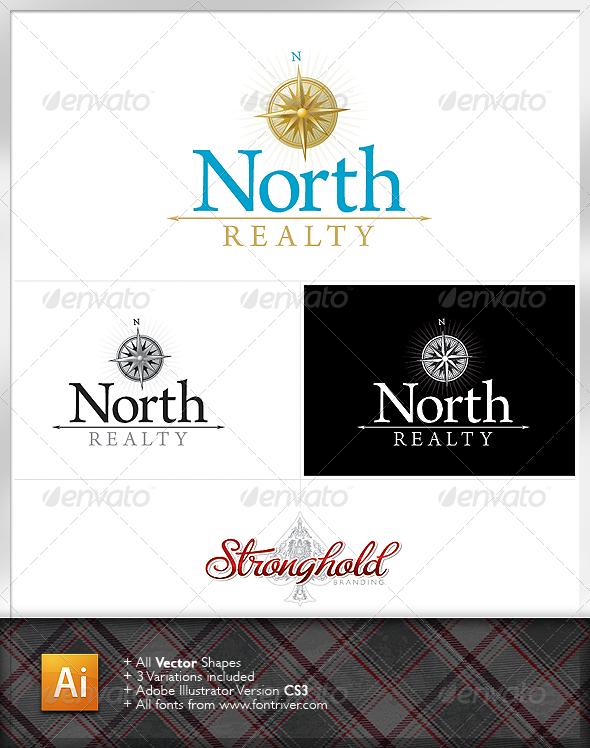 Real Estate North Logo - Symbols Logo Templates