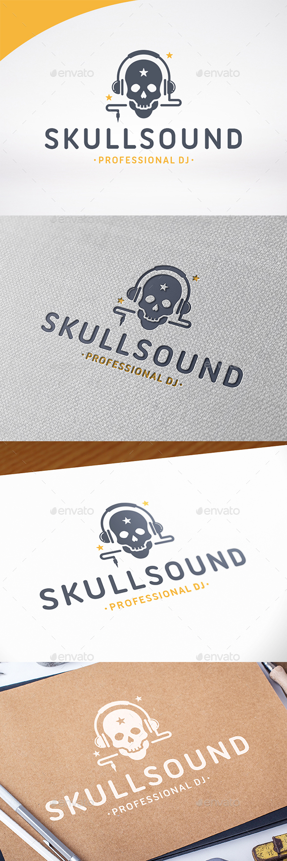 Skull Sound Logo Template - Humans Logo Templates