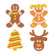 Christmas Cookies Flat Icons Set - GraphicRiver Item for Sale