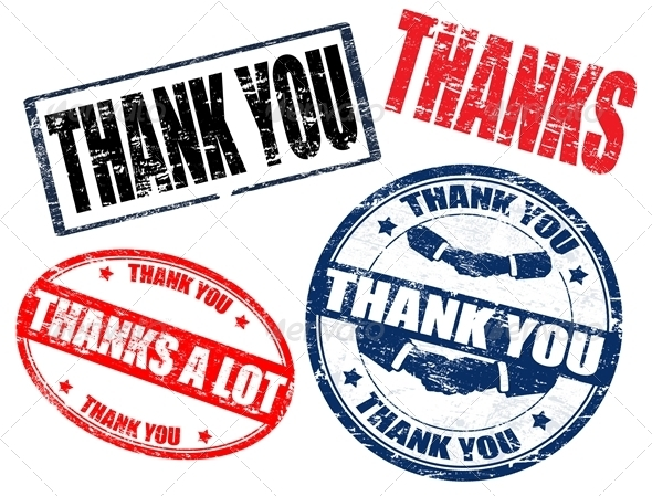 thank you stamps - Conceptual Vectors