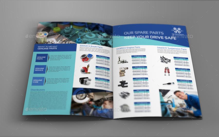 Auto Parts Catalog Brochure Bundle Template