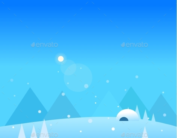 Wallpaper Landscape Of Winter Mountains, Igloo And - Seasons Nature
