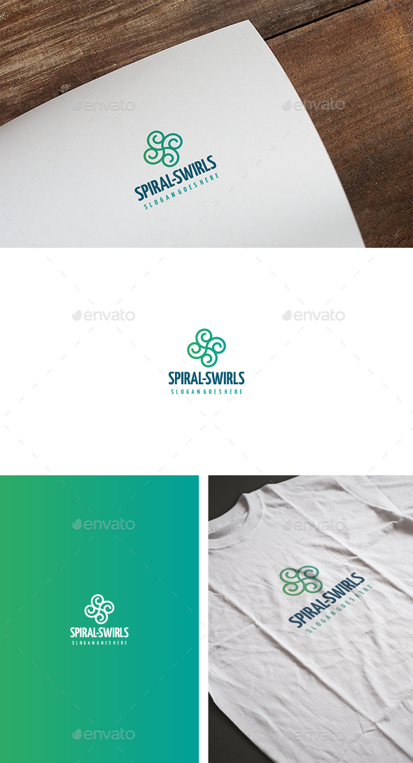 Spiral Swirls Logo - Abstract Logo Templates