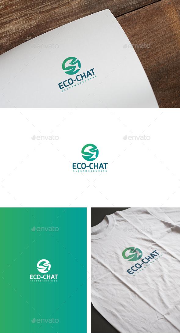 Eco Chat Logo - Abstract Logo Templates