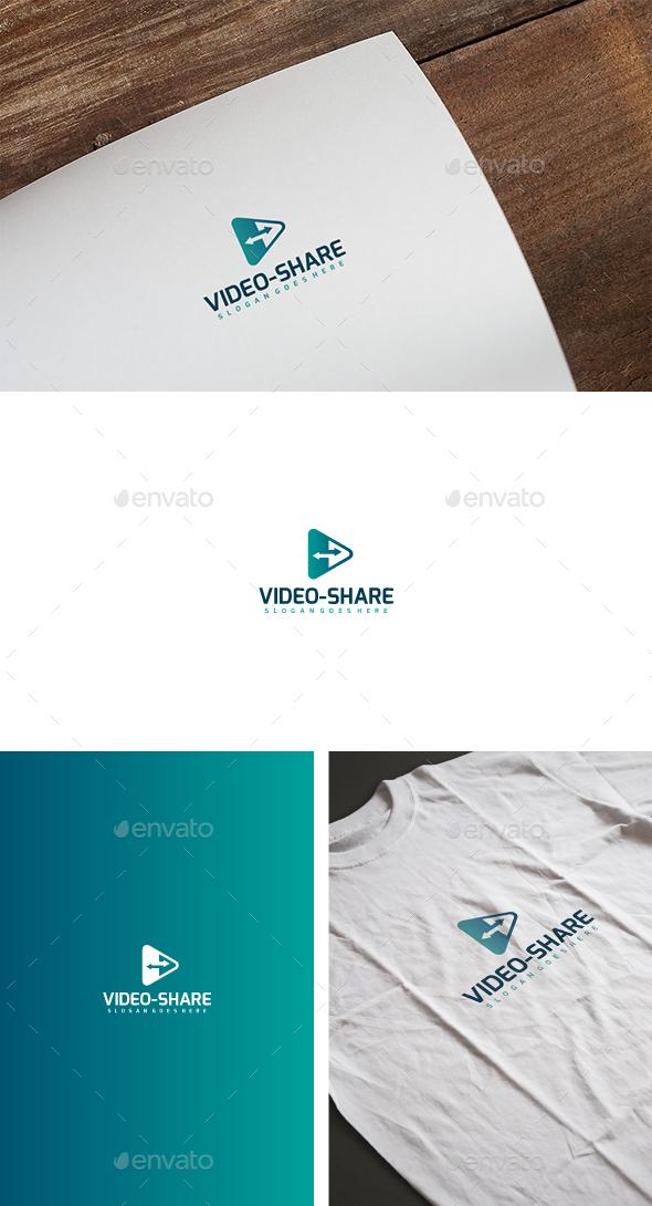 Video Media Share Logo - Abstract Logo Templates