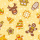 Christmas Cookies Seamless  Background Patterns - GraphicRiver Item for Sale