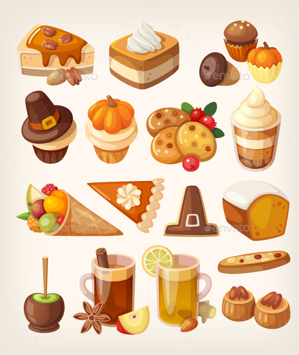 Thanksgiving Day Desserts - Food Objects