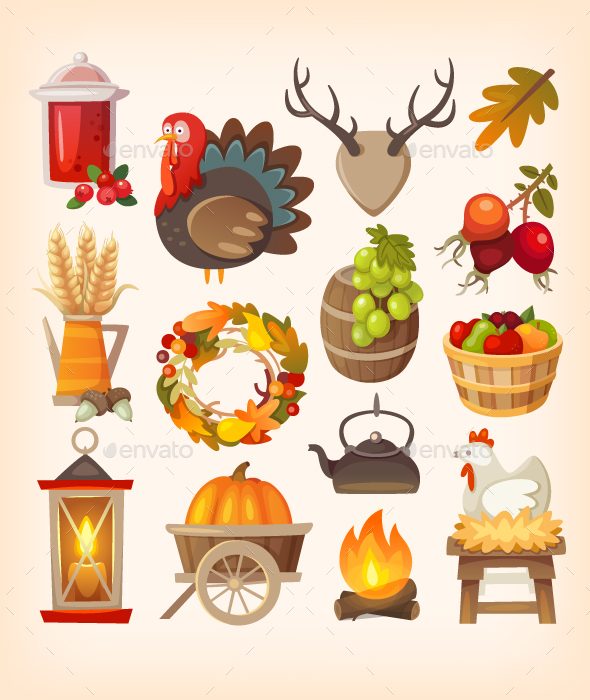 Thanksgiving Day Icons - Miscellaneous Seasons/Holidays