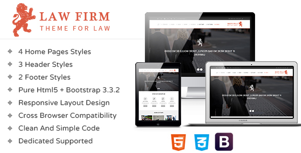Law Firm – Responsive HTML Template
