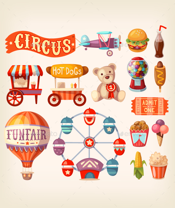 Fun Fair Icons - Miscellaneous Vectors
