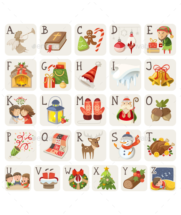 Christmas Alphabet - Christmas Seasons/Holidays
