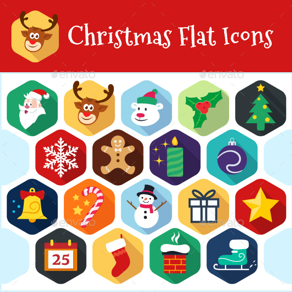 Christmas Flat Icons - Seasonal Icons