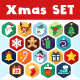 Christmas Flat Icons - GraphicRiver Item for Sale