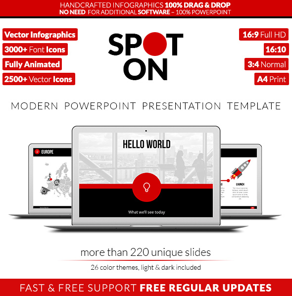 Spot On - Powerpoint Presentation Template - Business PowerPoint Templates