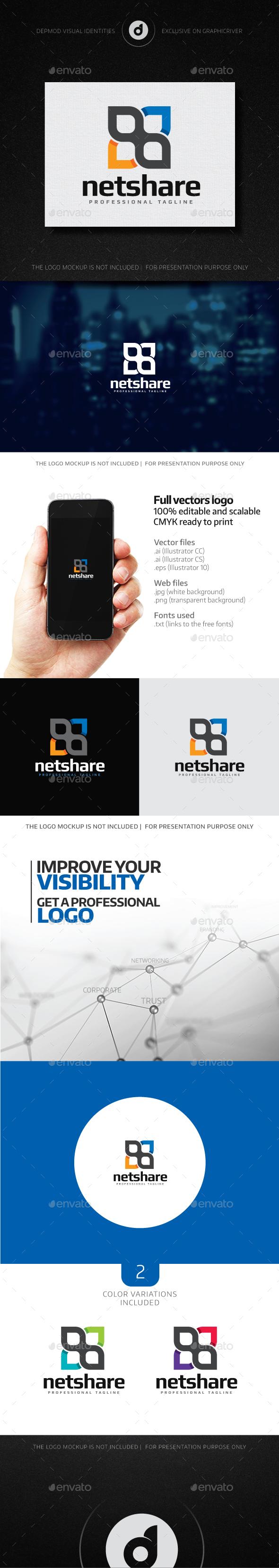 NetShare Logo - Abstract Logo Templates