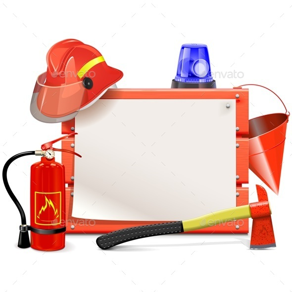 Vector Firefighter Board - Industries Business