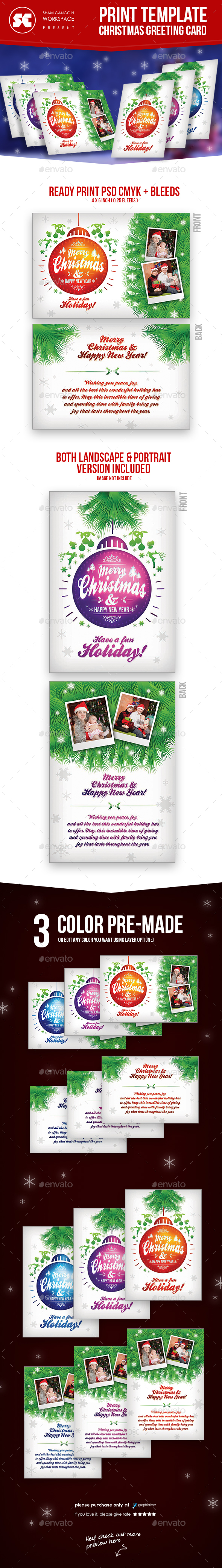 Christmas Greeting Card - Holiday Greeting Cards