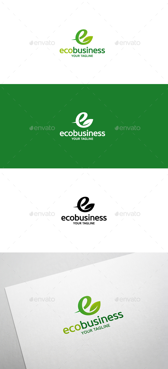 Eco Business Logo - Letters Logo Templates