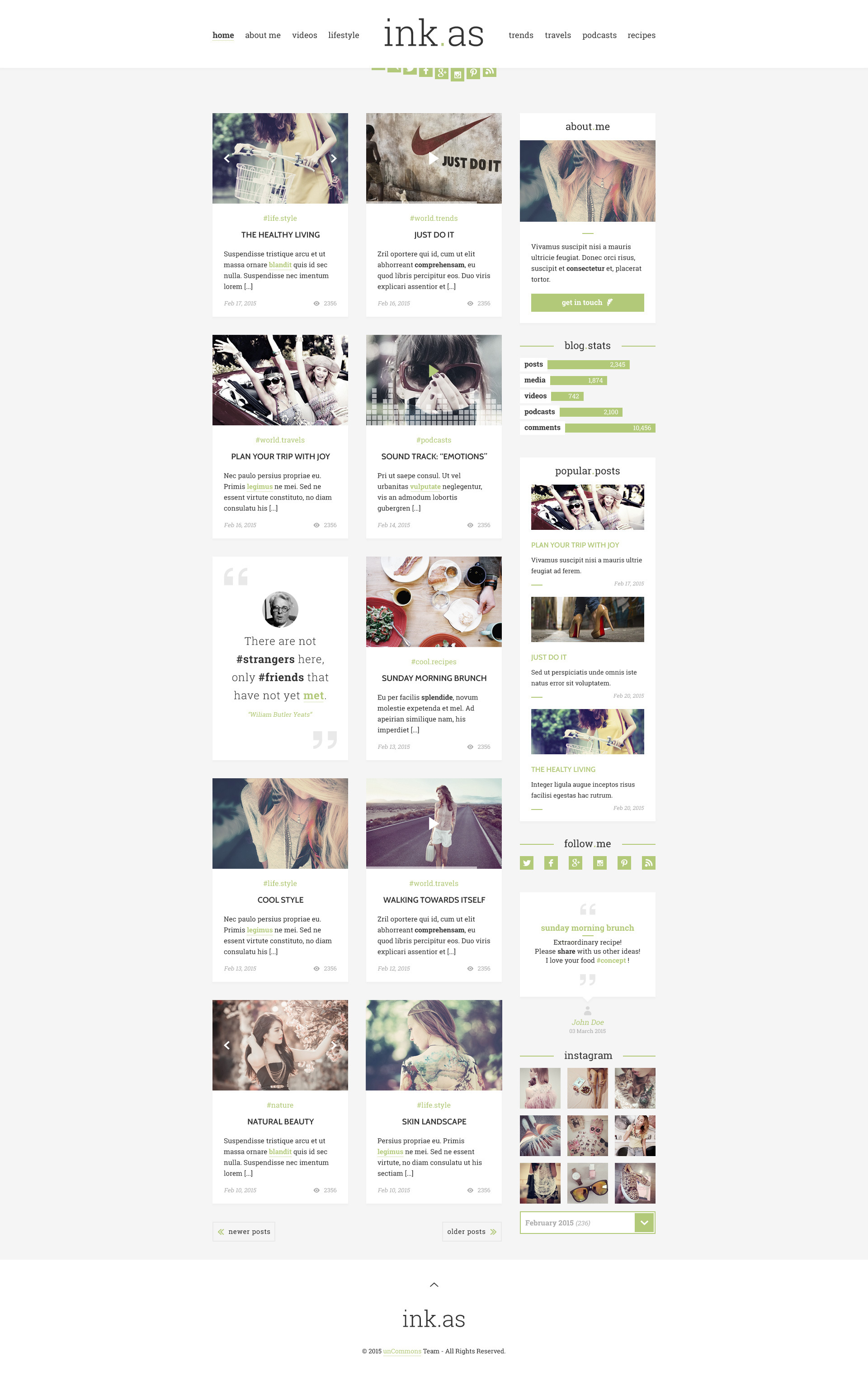 Inkas - The Personal Blog HTML Template by unCommons | ThemeForest
