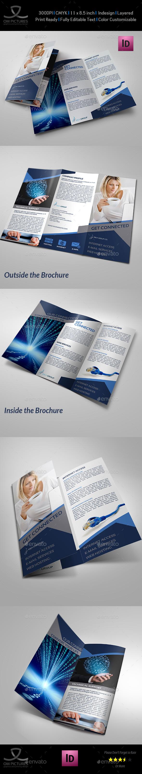 Internet Provider Services Tri-Fold Brochure - Brochures Print Templates