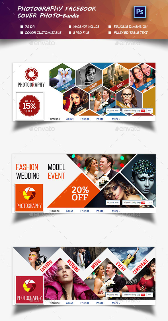 Photography  Cover Photo-Bundle  - Facebook Timeline Covers Social Media