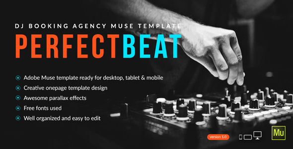 PerfectBeat – DJ Booking Agency Muse Template