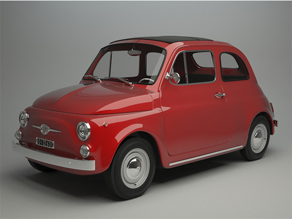 Fiat 500 F 1965 - 3DOcean Item for Sale