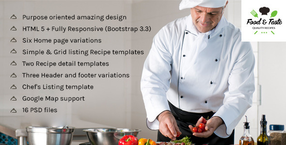 RecipePress – Food & Recipes Premium HTML Template