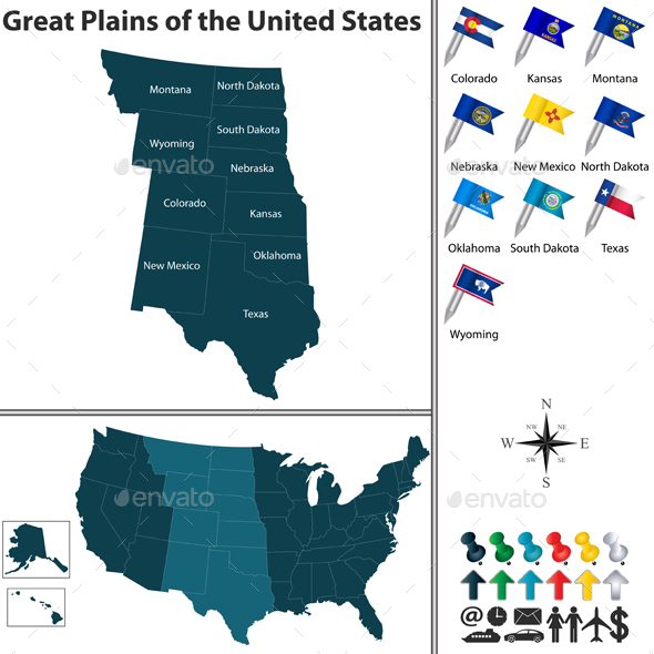Great Plains of the United States - Travel Conceptual