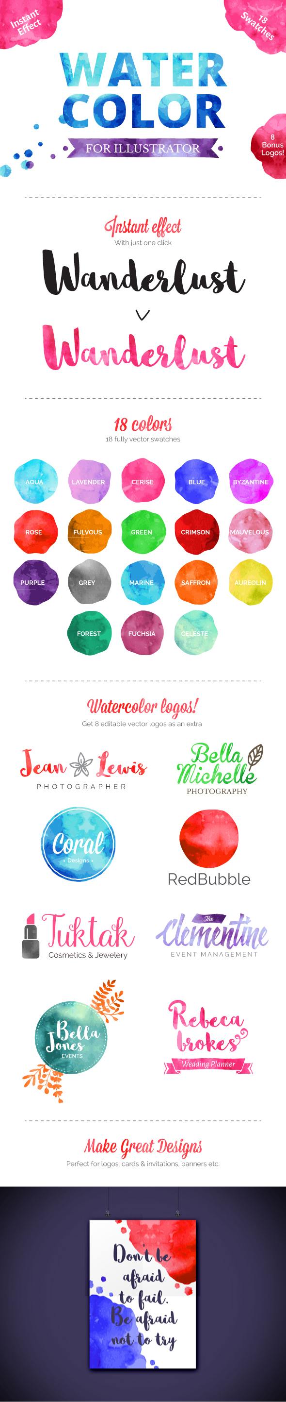 Watercolor for Illustrator - Styles Illustrator