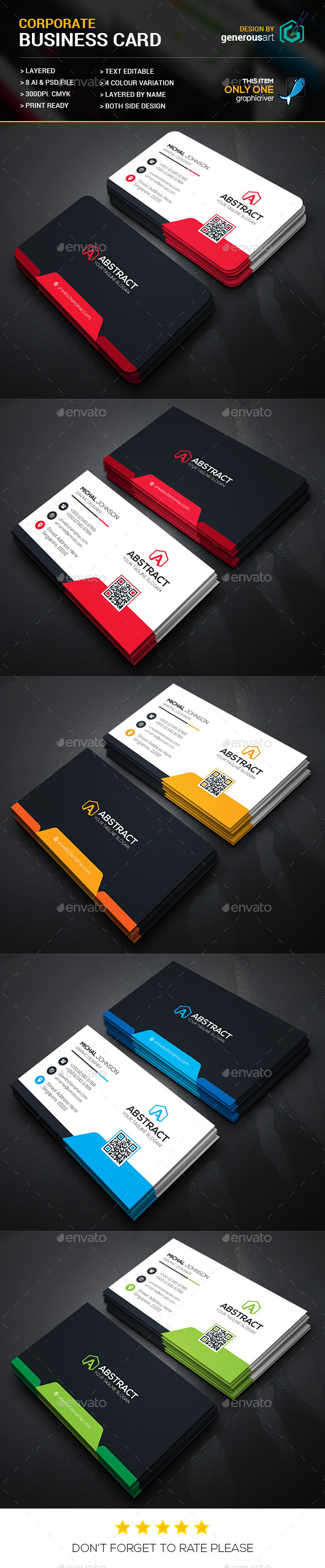 New Mega Star Business Card - Corporate Business Cards