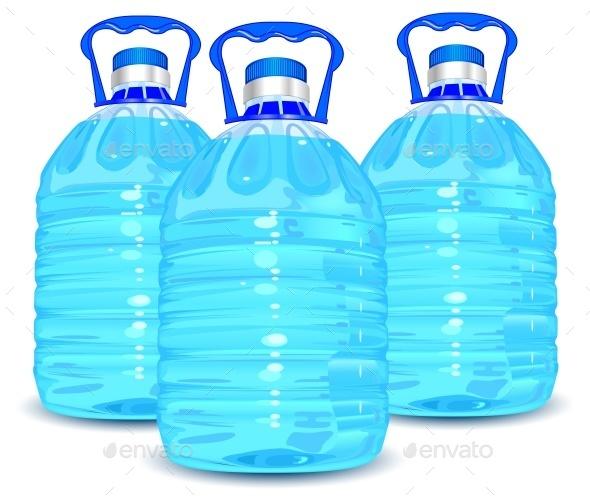Three Bottles  - Food Objects