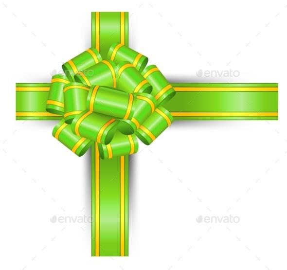 Green Bow - Birthdays Seasons/Holidays